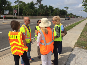 Lisa Helps with Road Safety Audit